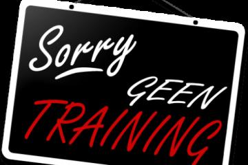 Alle trainingen en bijeenkomsten afgelast